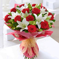 Roses and Lilies Bouquet, Culiacan-Sinaloa