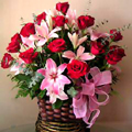 Roses & Lilies Basket, Guanare