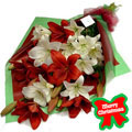 Christmas Lilies Bouquet, Mexico