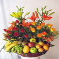 Fruits and Flowers Premium Basket, Peru
